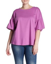 Bobeau - Bubble Sleeve Knit Tee (plus Size) - Lyst