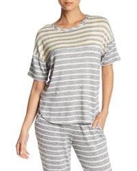 Kensie - Pajama Stripe Knit Sleep Top - Lyst