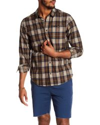 RVCA - Bone Flannel Regular Fit Shirt - Lyst