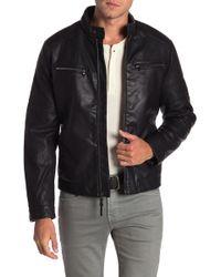 Michael Kors - Huron Faux Fur Lined Moto Jacket - Lyst