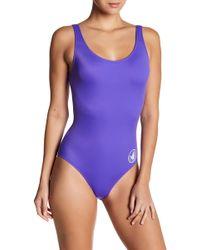 e922a89ffe086 Same Swim Women's Goddess One-piece Striped Swimsuit - Noir Blanc Stripe -  Size Xs in Black - Lyst