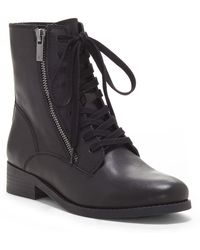 Lucky Brand - Hildran Leather Combat Boot - Lyst