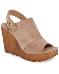 Steve Madden Kaylin Wedge Sandal (women) - Brown