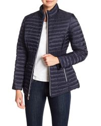 Laundry by Shelli Segal - Cinched Waist Puffer Jacket - Lyst