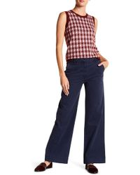 J.Crew - Tailored Wide Leg Chino Trousers - Lyst