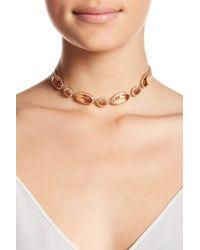 Jenny Packham - Crystal Halo Choker Necklace - Lyst