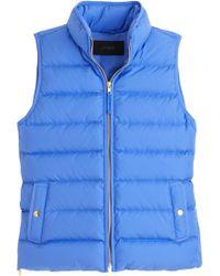 J.Crew   Anthem Down & Feather Fill Puffer Vest (regular & Petite)   Lyst