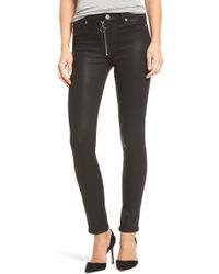 Hudson Jeans - Barbara High Waist Skinny Faux Leather Pants - Lyst