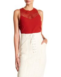A.L.C. - Quinn Crochet Detail Top - Lyst