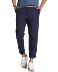 "Original Penguin - Pigment Linen Blend Straight Leg Trousers - 32"" Inseam - Lyst"