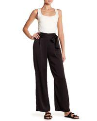 June & Hudson - Wide Leg Tie Accent Pants - Lyst