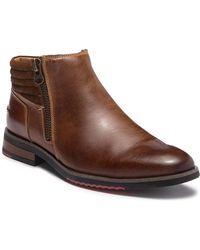 Steve Madden - Kingpin Leather Zip Boot - Lyst