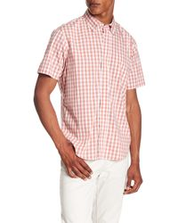 Tailor Vintage - Gingham Print Performance Stretch Shirt - Lyst