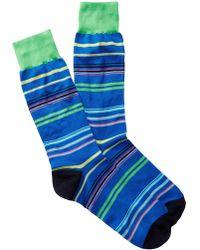 Jared Lang - Light Stripe Crew Socks - Lyst