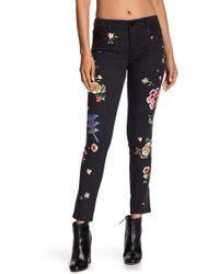 Alice + Olivia - Jane Embroidered Studded Skinny Jeans - Lyst