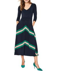 3deb8bf328d Boden Lucille Stretch Jersey Dress in Green - Lyst
