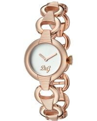 Dolce & Gabbana - Women's Casual Gold-tone Stainless Steel Watch - Lyst