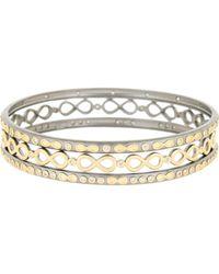 Freida Rothman - 14k Gold Plated Sterling Silver Cz Infinity Bangle Set - Lyst