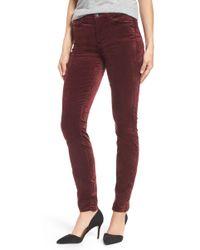 Jen7 - Stretch Velvet Ankle Skinny Jeans - Lyst
