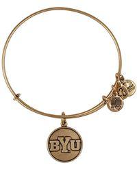 ALEX AND ANI - Brigham Young University Logo Charm Wire Adjustable Bracelet - Lyst