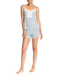 Catherine Malandrino - Strappy Tank Top & Shorts Print 2-piece Pajama Set - Lyst