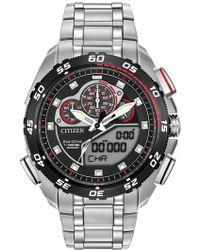 Citizen - Men's Promaster Super Sport Silver/black Eco-drive Watch - Lyst