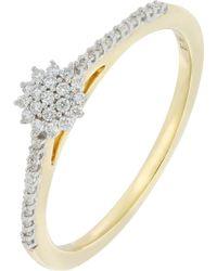 Bony Levy - Mika 18k Yellow Gold Pave Diamond Starburst Ring - 0.12 Ctw - Lyst