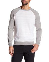 Tocco Toscano - Long Raglan Sleeve Colorblock Crew Neck Sweatshirt - Lyst