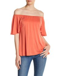 In Cashmere - Off-the-shoulder Ruffle Blouse - Lyst