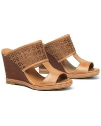 Trask - Payton Leather Wedge Sandal - Lyst