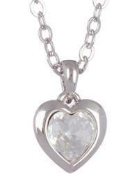 Ted Baker - Hannela Bezel Set Swarovski Crystal Accented Heart Pendant Necklace - Lyst