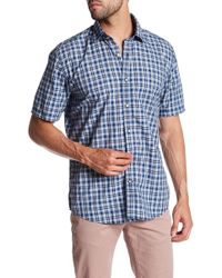 James Campbell - Esse Plaid Short Sleeve Regular Fit Shirt - Lyst