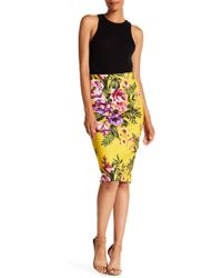 Eci - Floral Pencil Skirt - Lyst
