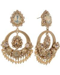 Marchesa - Crystal & Imitation Pearl Chandelier Earrings - Lyst