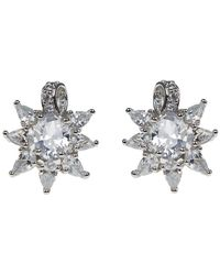 CZ by Kenneth Jay Lane - Cz Floral Stud Earrings - Lyst