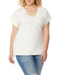 REBEL WILSON X ANGELS - V-neck Lace-up Tee (plus Size) - Lyst