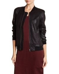 Dex - Coated Suede Bomber - Lyst