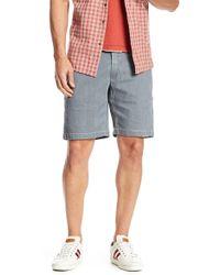 Jeremiah - Bryant Stripe Bleached Denim Shorts - Lyst