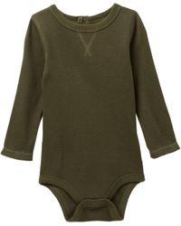 Joe Fresh - Waffle Long Sleeve Bodysuit (baby Boys) - Lyst