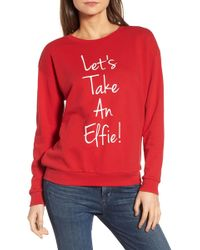 South Parade - Let's Take An Elfie Sweatshirt - Lyst