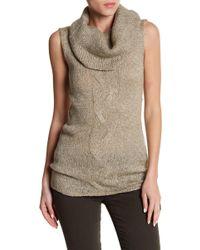 FAVLUX - Cowl Neck Sleeveless Sweater - Lyst
