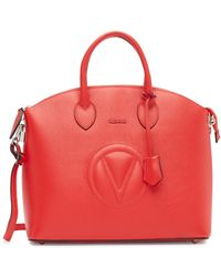 Valentino By Mario Valentino - Bravia Leather Satchel Bag - Lyst