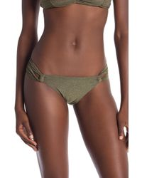 SOLUNA - Metallic Side Loop Bikini Bottoms - Lyst