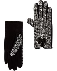 Joe Fresh - Contrast Bow Tweed Gloves - Lyst