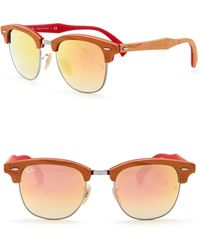 Ray-Ban - 51mm Square Clubmaster Sunglasses - Lyst