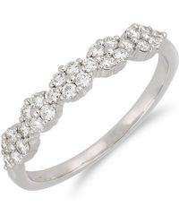 Bony Levy - 18k White Gold Diamond Detail Cluster Accent Ring - Size 7 - Lyst