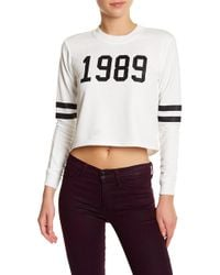 Missguided | Slogan Cropped Pullover | Lyst