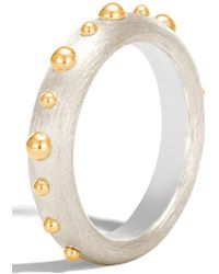 John Hardy - 18k Gold Dot & Sterling Silver Band Ring - Size 5 - Lyst