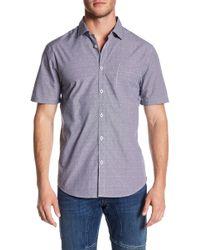 Good Man Brand - Short Sleeve Chevron Slim Fit Shirt - Lyst