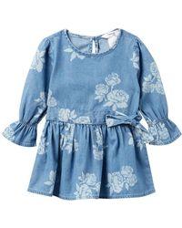 Bebe - Denim Bell Sleeve Dress (baby Girls) - Lyst
